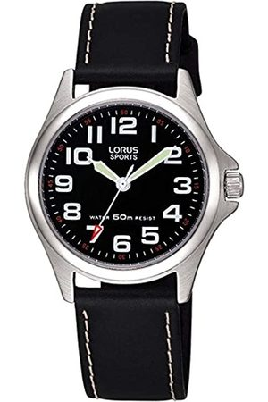 Lorus Boys Analogue Quartz Watch with Leather Strap RRS53LX9