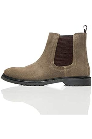 find. Leather Cleated Chelsea Boots, )