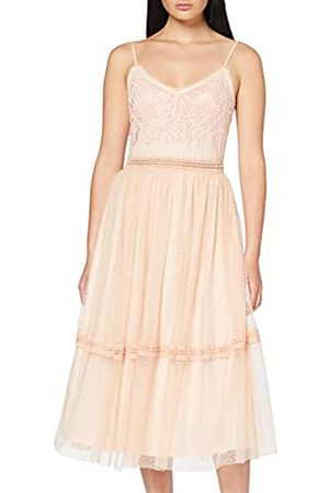 Frock and Frill Women's Juliette Strappy Embroidered Midi Dress Party