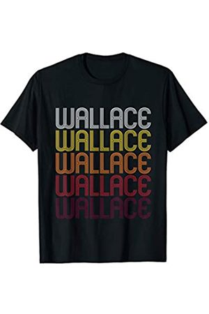 Ann Arbor T-shirt Co Wallace Retro Wordmark Pattern - Vintage Style T-shirt