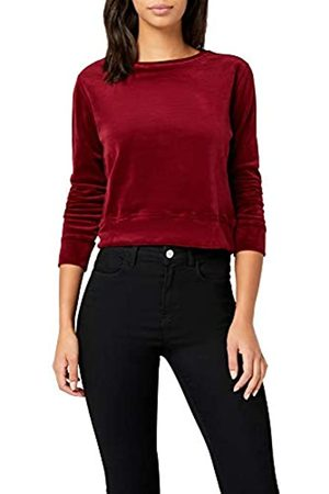 Urban Classics Women's Ladies Short Velvet Crew Sweatshirt