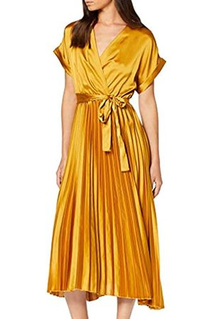 New Look Petite Women's Satin Pleat Dress