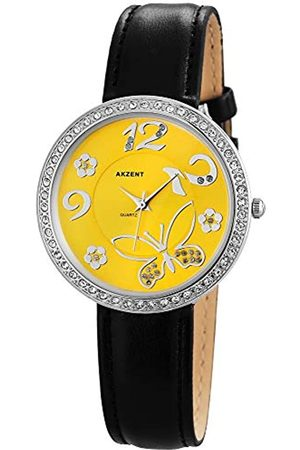 Akzent Womens Analogue Quartz Watch with Leather Strap SS8024000012