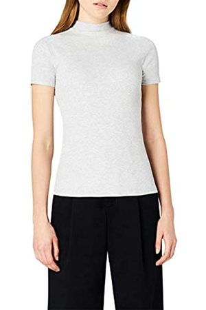 MERAKI Women's Slim Fit High Neck T-Shirt