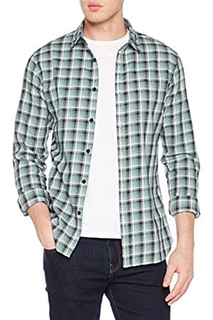 Tommy Jeans Men's Essential Washed Check Short Sleeve Casual Shirt