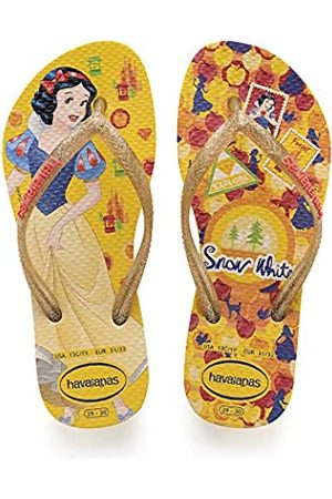 Havaianas Kids Slim Princess, Unisex-Child Flip Flops, (Banana )