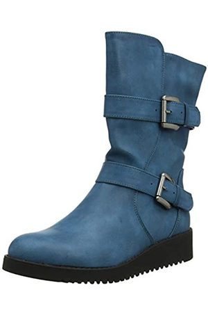 Joe Browns Women's Double Trouble Strap Boots Ankle, (Teal A)