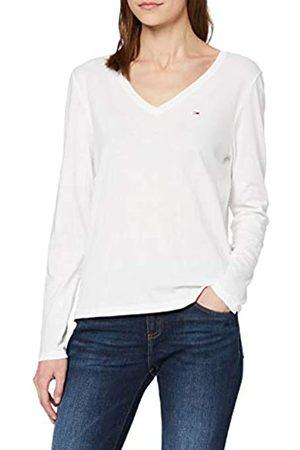 Tommy Jeans Women's TJW Soft Jersey V Longsleeve Sports Knitwear