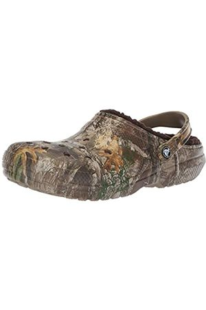 Crocs Unisex-Adult's Clssc Lined Realtree Edge Clog, (Chocolate)