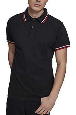 Urban Classics Men's Double Stripe Poloshirt Sweater
