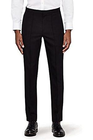 MERAKI Men's Skinny Fit Smart Pintuck Trousers