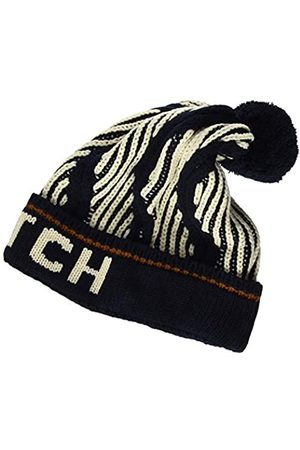 Scotch & Soda Men's Patterned Ski pom Beanie Baseball Cap
