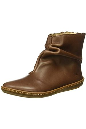El Naturalista Women's N5311 Iris Coral Ankle Boots