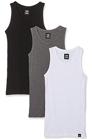 Dickies Men's Proof Pack Plain Short Sleeveless Vest (Set of 3)