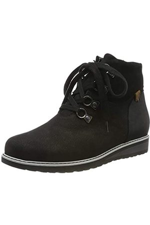 Waldläufer Women's Havida Ankle Boots, (Bear Velour Bronx Schwarz 001)