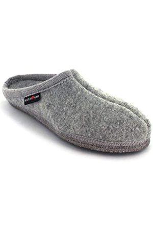 HAFLINGER Unisex Adults' Walktoffel Alaska Open Back Slippers, (Steingraumeliert 84)