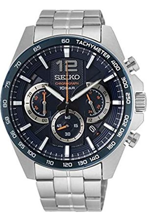 Seiko Mens Analogue Quartz Watch with Stainless Steel Strap SSB345P1