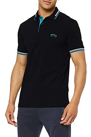 BOSS Men's Paul Curved Plain Slim Fit Polo Shirt