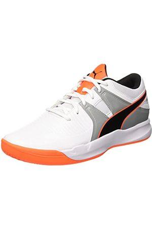 PUMA Men's Explode 2 Multisport Indoor Shoes, -Quarry-Shocking