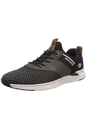 Dockers Men's 44bc003-780100 Low-Top Sneakers, (Schwarz 100)
