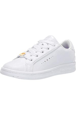 Skechers Girls' Omne Class Star Trainers, ( Dura Leather Wht)