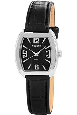 Akzent Womens Analogue Quartz Watch with Leather Strap SS8021000014