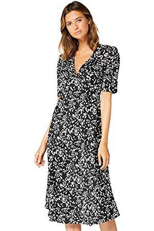 TRUTH & FABLE Amazon Brand - Women's Midi Chiffon A-Line Dress, 8