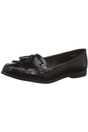 Noir Black 1 40 EU Mocassins Femme New Look Kairy 7-IC PU Croc Loafer:1:s207