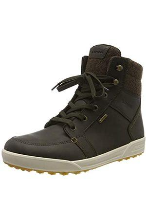 LOWA Men's Molveno GTX Mid High Rise Hiking Shoes, (Marrone Scuro/Bronzo 7844)