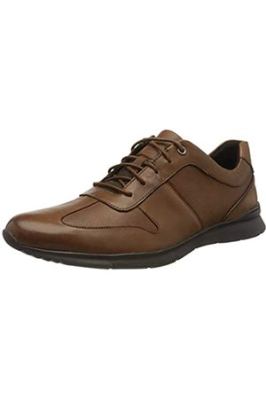 Clarks Men's Un Tynamo Tie Brogues, (Tan Leather Tan Leather)