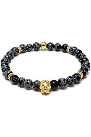 Von Lukacs Men Onyx Stretch Bracelet EMGSO6M