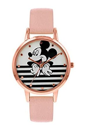 Disney Womens Analogue Classic Quartz Watch with Leather Strap MK5087