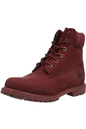Timberland Women's 6 Inch Premium Waterproof Lace-up Boots, (Dark Nubuck)