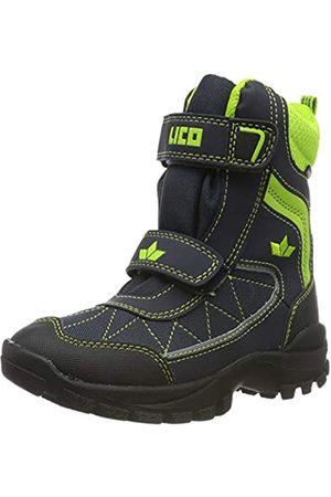 Lico Unisex Kids' Luano V Snow Boots, (Marine/Lemon Marine/Lemon)