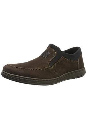 Rieker Men's 17350-25 Loafers, (Testadimoro/Schwarz/Schwarz 25)