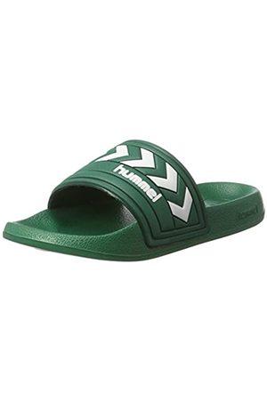 Hummel Larsen Slipper Smu, Unisex Adults' Beach & Pool Shoes, (Evergreen)