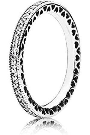 PANDORA 190963CZ Women's Ring Heart 925 Sterling Zirconia transparent