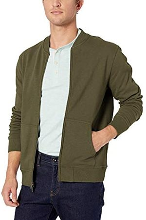 Goodthreads Men's Fleece Bomber Sweatshirt, (Olive)