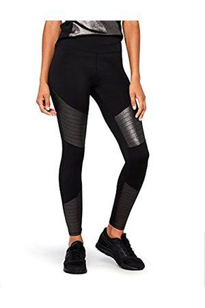 AURIQUE Amazon Brand - Women's High Waisted High Shine Sports Leggings, 14