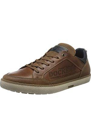 Dockers by Gerli Men's 46ul001-120470 Low-Top Sneakers, (Cognac 470)