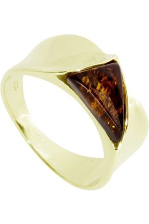 InCollections Women's Ring 8 Carat (333) Yellow Gold with Amber Size N (54) OS07030