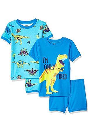 Spotted Zebra 4-piece Snug-fit Cotton Pajama Short Set Dinoland, 18-24 Months