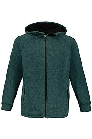 JP 1880 Men's Big & Tall Knitted Fleece Hooded Jacket Pine XXX-Large 723298 45-3XL