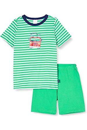 Schiesser Boy's World Kn Schlafanzug Kurz Pyjama Set, (grün 700)