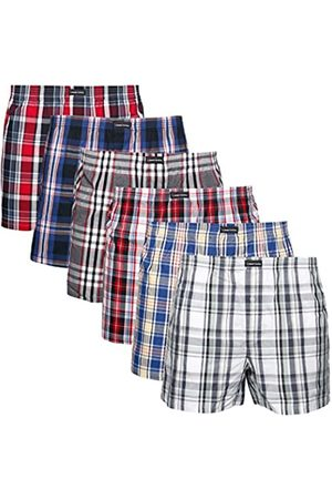 Lower East Men's American Boxer Shorts, Pack of 6 in different colours