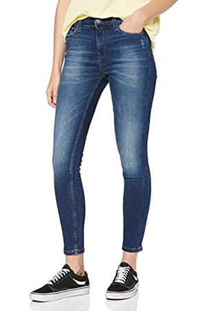 Tommy Hilfiger Women's Mid Rise Skinny Nora 7/8 Elmd Straight Jeans