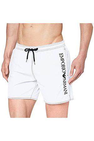 Emporio Armani Men's Boxer Beachwear Embroidery Logo Swim Trunks