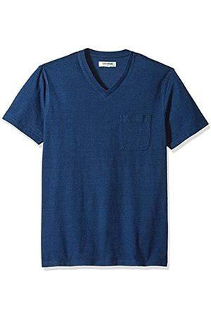 Goodthreads Men's Short-Sleeve Indigo V-Neck Pocket T-Shirt, Dark Wash