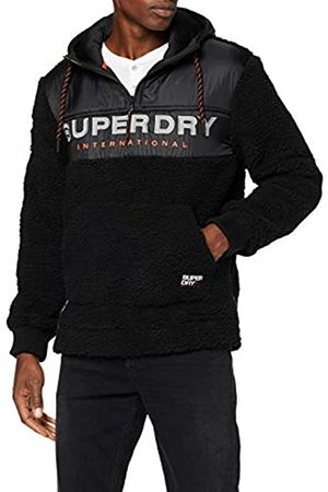 Superdry Men's Sherpa Worldwide Stealth Half Ziphood Hoodie