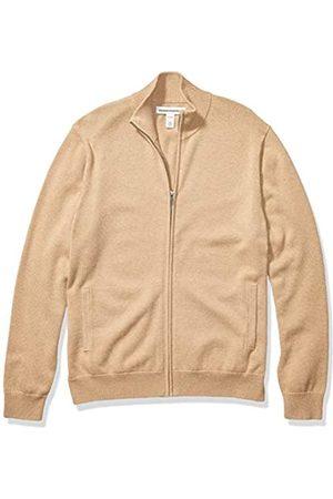 Amazon Essentials Cotton Full-zip Sweater Camel Heather